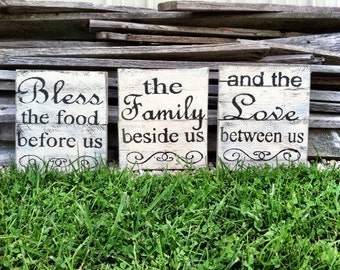 Bless The Food Before Us Sign /  Kitchen Sign /  Kitchen Decor / Kitchen Decor / Bless The Food Before Us