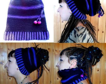 Hat with dreads 106 produced entirely by hand crochet!