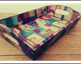 Hand Decorated Tray/ Decoupage/ Gifts/ Handmade