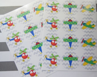 Stickers Envelope Seals Transportation Stickers Birthday Stickers Calendar Stickers Planner Stickers Set of 24 SES303