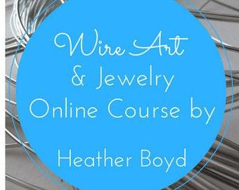 Wire Art Course PDF e-book and Private Video Tutorials