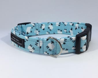 Black Faced Sheep Collar in Pink, Grey, Baby Blue or Sage Green