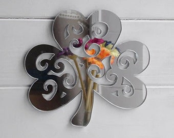 Decorative Irish Shamrock Acrylic Mirror
