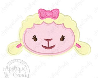 Doc Lamb Applique Machine Embroidery Design Digital File 4x4 5x5 5x7 6x10 Lambie INSTANT DOWNLOAD