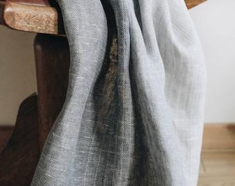 Linen Large Scarf / / Greenish Grey Transition II / Color transition/ / Unisex Scarf