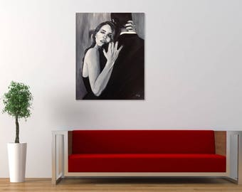 LANA DEL REY poster - print of 'Young and Beautiful' original acrylic painting by Stephen Mahoney - various sizes available