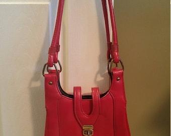 1970s Red Leatherette Handbag