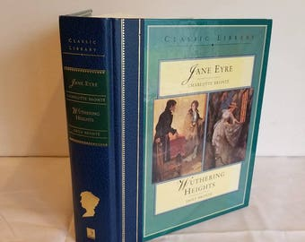 Jane Eyre, Wuthering Heights, Charlotte and Emily Bronte, Vintage Hardback, Classic, 1996 ed. 2 books in one
