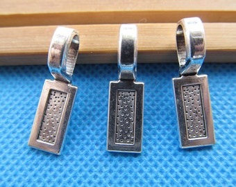 7.5mmx24.5mm Antique Silver tone Rectangle Base Bails Beads Connector Pendant Cham Finding,Fit  Bracelet Necklace,DIY Accessory