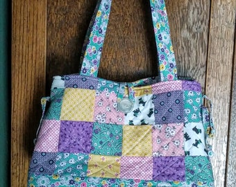 30's quilted patchwork purse