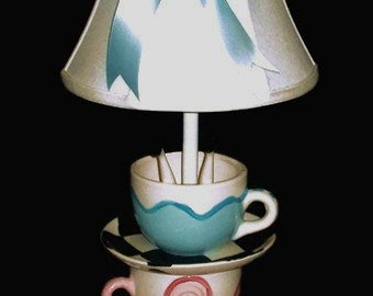 Alice In Wonderland Mad Hatter Tea Party Lamp