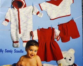 Baby Knits  Pattern American School of Needlework Sandy Scoville 8 Designs