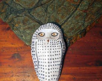 Handmade Ceramic Snowy Owl Wall Hanging
