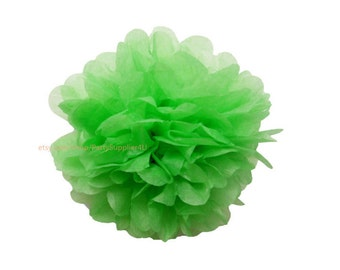 "1 Large 14"" Apple Green Tissue Paper Pom Pom Tissue Paper Flowers For Wedding Nursery Shower Birthday Party Decoration"