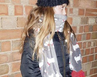 Scottie Dog super soft fleece scarf
