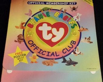 Vintage 1990's Beanie Babies Official Membership Kit