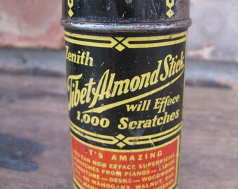Vintage Zenith Tibet Almond Stick / Beat-up, Old Tin