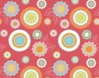 SALE Riley Blake Designs, Just Dreamy, Medium Floral Rose OOP Fabric - Half Yard