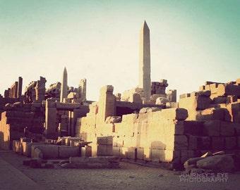 Karnak Temple - Egyptian photograph, fine art photography, home decor, ancient Egypt, architecture, exotic, travel photo