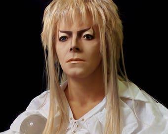 Lifesize Jareth Labyrinth David Bowie 1:1 Bust Goblin King Figure Statue Prop