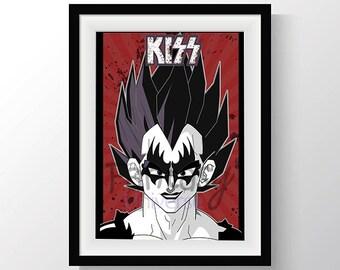Vegeta Kiss Print - Stampa