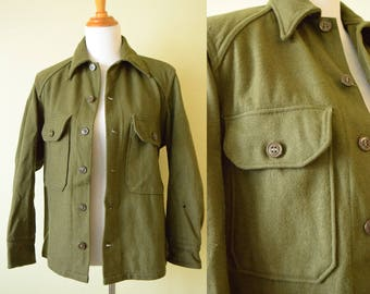 Vintage 1960's  Wool Military Jacket | Vietnam Era