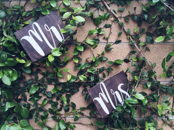 Mr. & Mrs. Wooden decor bundle/ chair sign bundle / wedding decor / wood decor