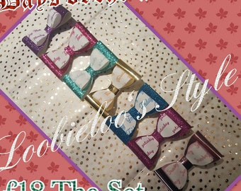 Days of the week double layer Handmade Hair bows