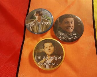 Set of Three Supernatural Buttons