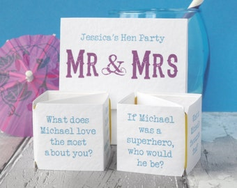 Mr and Mrs Hen Party Game - Hen Party Games - Mr and Mrs - Hen Party - Hen Night - Hens Night Games - Hen Games - Mr and Mrs Game - Hen Do