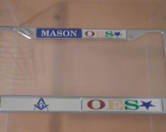 Mason / Order of The Eastern Star - Split License Plate Frame