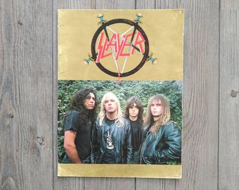 Slayer- Rein in Blood tour program 1987