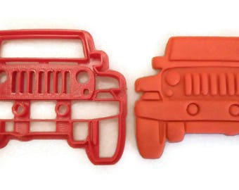 Jeep cookie cutter, Jeep cookie stamp, jeep fondant cutter, jeep grill cookie cutter