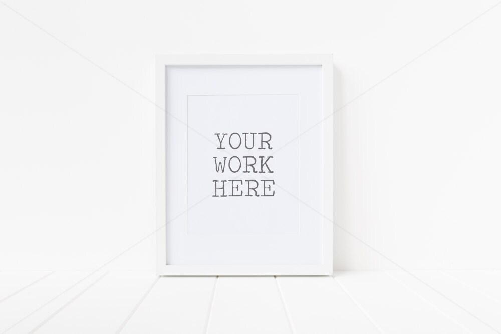 Gestylt Stock Fotografie Frame Mock Up weißer Rahmen mit