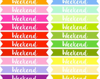 Weekend Banners Planner Stickers