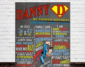 Superman Chalkboard Sign
