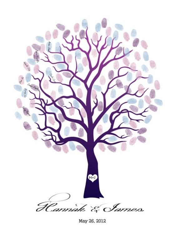 abbastanza Impronte digitali di matrimonio albero ospite libro AY34