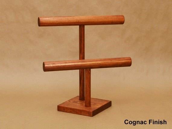 Collapsible Wooden 2Tier Double TBar Bracelet Display
