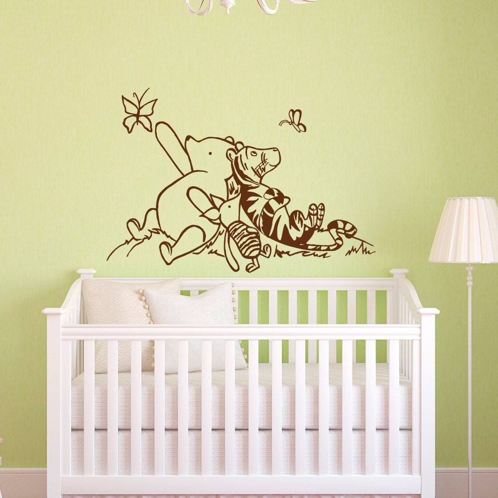 Winnie The Pooh Wall Decals Nursery Classic Winnie The Pooh