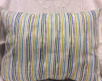 Striped Sunroom Dayroom Window Pillow