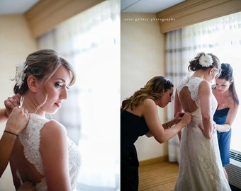 Flower Fascinator, Bridal Fascinator, Wedding Fascinator, Bridal Flower, Wedding Flower, 1920s Headpiece, Gatsby Headpiece, Ivory Fascinator