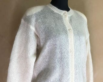 Vintage 70s/80s Mohair Blend Cardigan Sweater