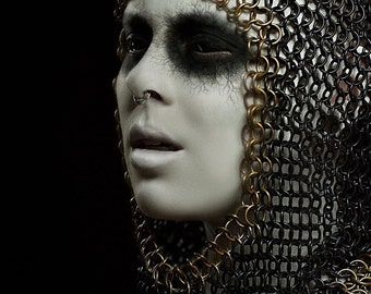 Chainmail Coif - Chainmaille Hood - LARP - Cosplay - Photoshoot Costume - Medieval Chainmail - Armor - Chainmail Headpiece - Ren Faire