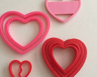 Valentines Day Cookie Cutter Lot Nesting
