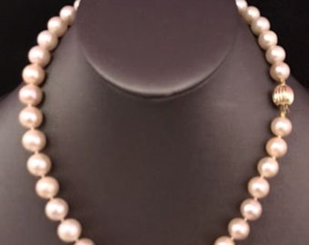 FreshWater Pearls Large 10.5-9.5 mm 17.5 In Necklace 14Kt Solid Gold Clasp F8