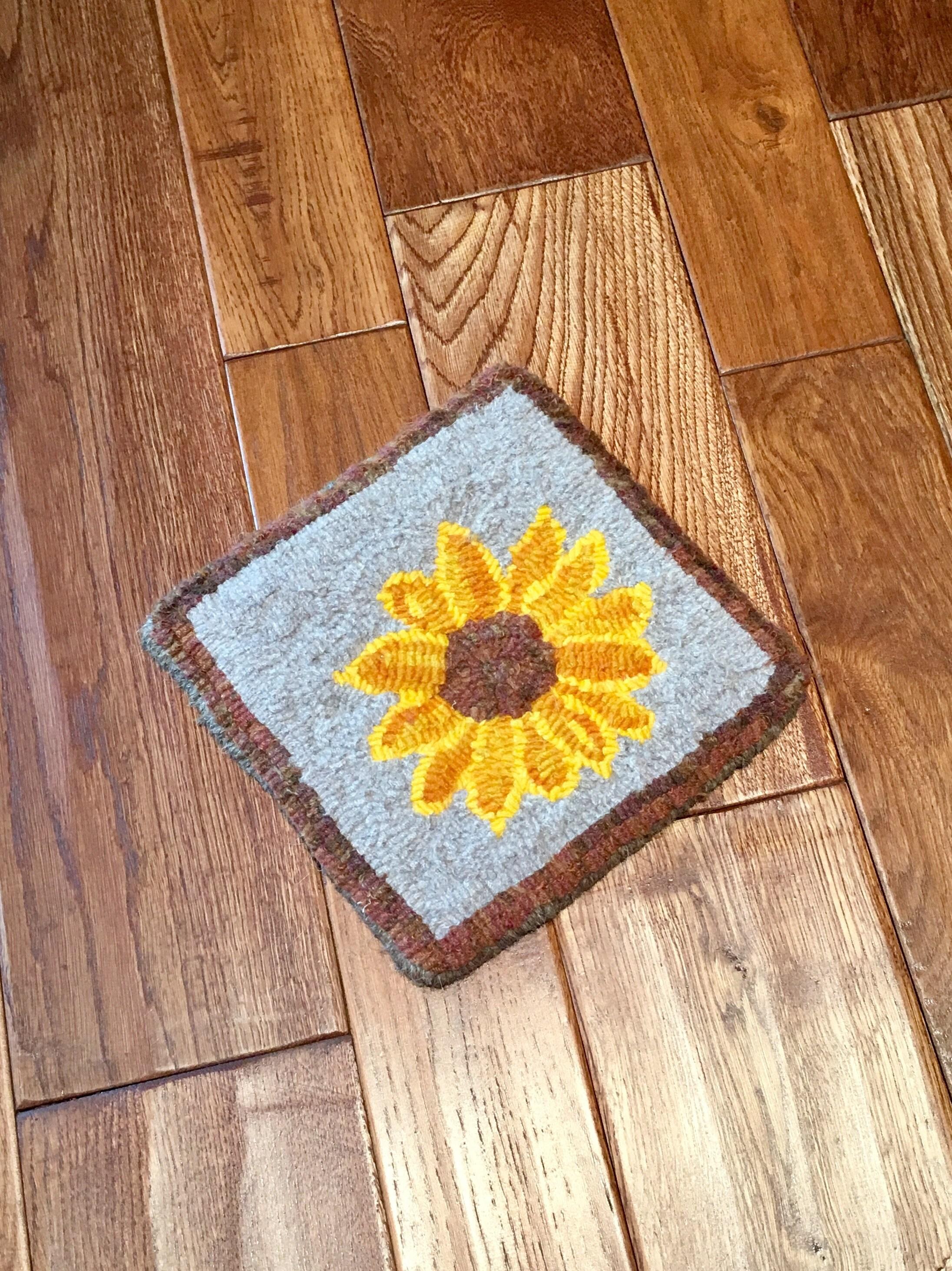 Wolle Sonnenblume Untersetzer