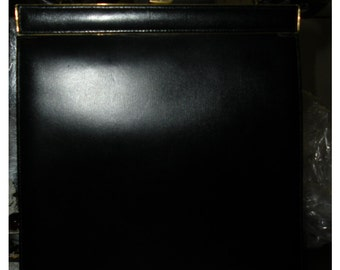 My mom's Vintage Navy Blue Leather bag, made in France