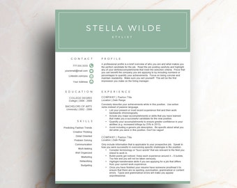 fashion resume template