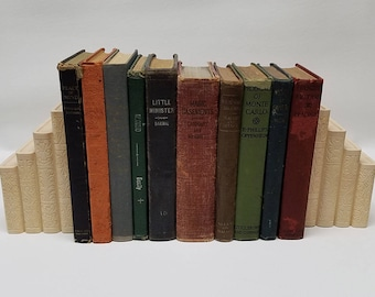 Lot of 10 Beautifully Aged Medium Hard Cover Books Early 1900's (lot #3)