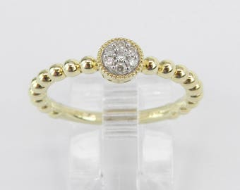 Diamond Cluster Ring Promise Engagement Ring Yellow Gold Size 7 Graduation Gift